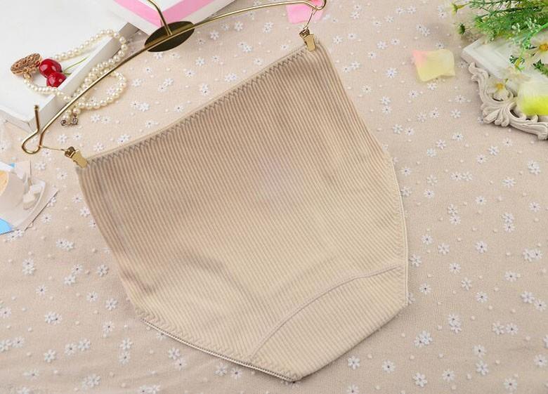 Woman cotton underwear Women's high waist cotton briefs Embroidery printing large size underwear 10colors  M-2X