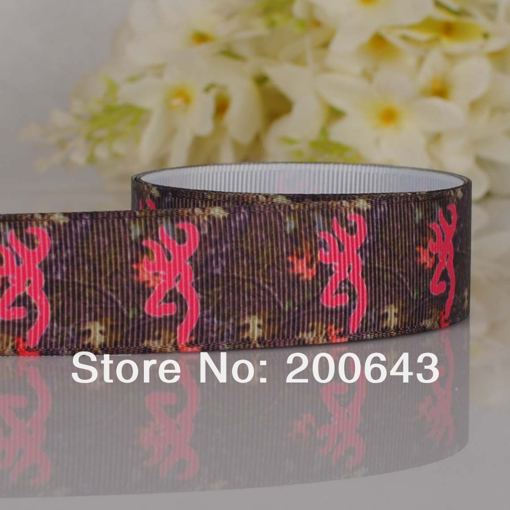 "Free shipping 7/8"" browning Counrty girl leaf bacound printed Grosgrain ribbon,OEM Country girl gift ribbon 100yards/lot(China (Mainland))"