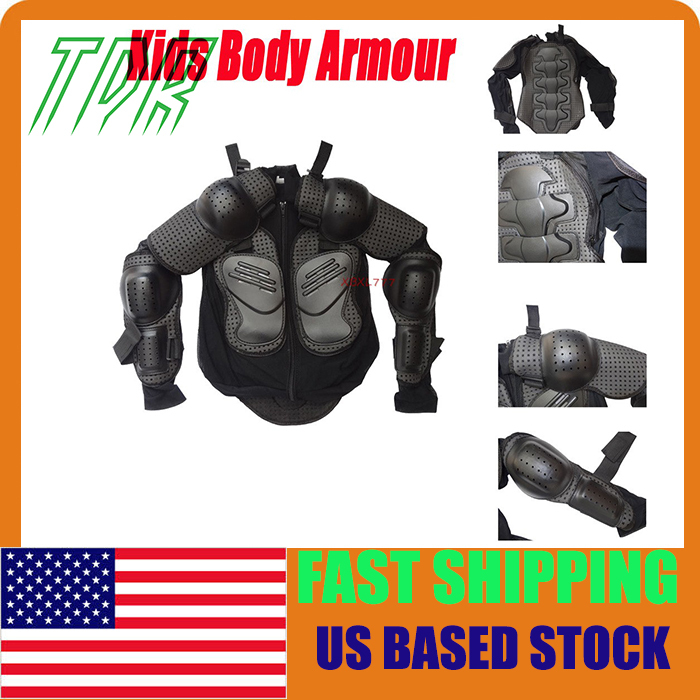 STOCK IN USA Motorcycle Kids Body armour Armor Jacket Guard Bike Motocross body armour Gear Size S M L(China (Mainland))