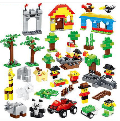Kids Toy Bulk Bricks Blocks 625 pcs DIY Bricks Educational Building Blocks Sets Accessories(China (Mainland))
