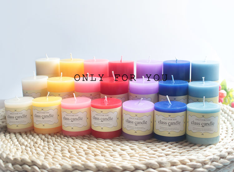 Class pillar candle only for you white vanilla scented aromatherapy decorative wax candles for home aroma