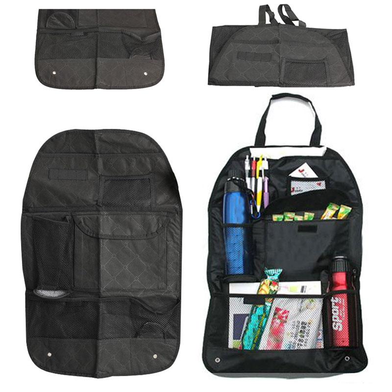 1Pcs Car Organizer Auto Pocket Storage Bag Vehicle Car Seat Organizer Back Color Car Storage Seat Bag For Book Bottle(China (Mainland))