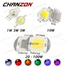 High Power LED Chip 1W 3W 5W 10W 20W 30W 50W 100W SMD LED Bead  for Floodlight Spotlight(China (Mainland))