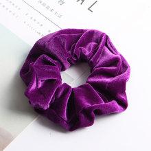 64 צבעים קטיפה גומיית רך אלסטי שיער בנות להקות נמתח שיער טבעת חבל קוקו מחזיק נשים שיער אבזרים(China)