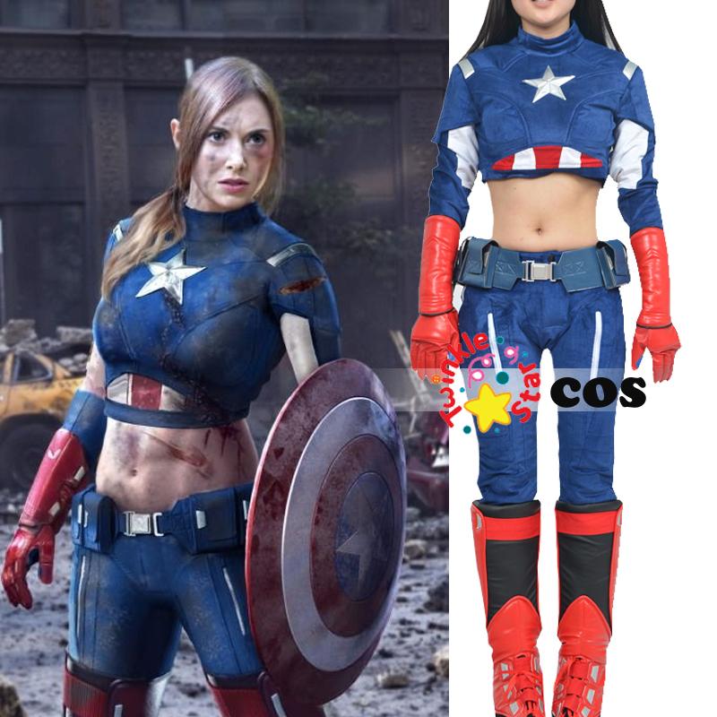 Achetez en gros sexy captain america costume en ligne des grossistes sexy captain america - Captain america fille ...