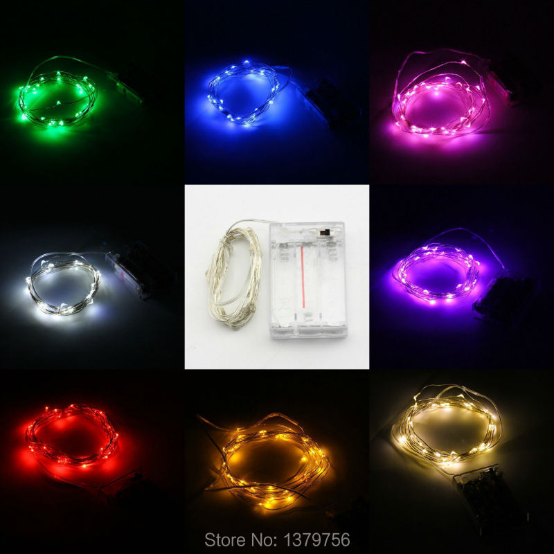 10pcs10feet 3M30leds many colors 3AA battery tiny garland lights flexible cristmas decoration for flower fairy party decoration(China (Mainland))