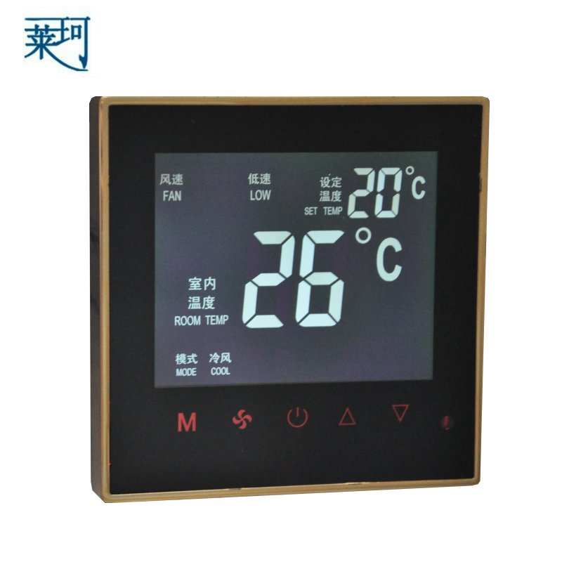 K606 central air-conditioning thermostat fan coil LCD touch screen temperature controller temperature control switch(China (Mainland))
