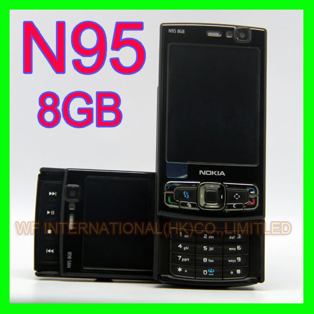 Original NOKIA N95 8GB Mobile Phone 3G 5MP Wifi GPS 2.8''Screen GSM Unlocked Smartphone Russian keyboard Arabic Keyboard(China (Mainland))