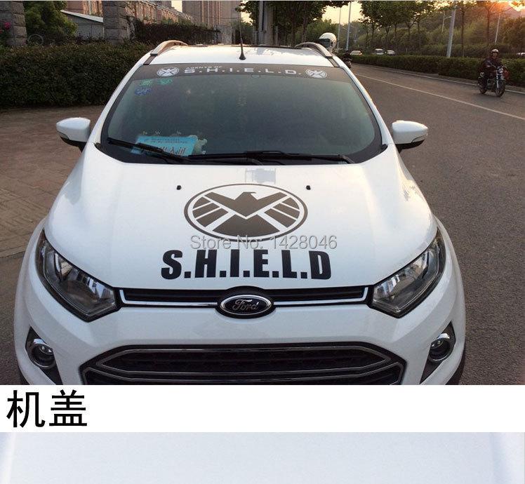 Black Shield Police Black/white Fbi Shield Car
