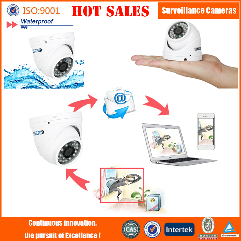 Fashion IP camera New products CCTV camera ESCAM Peashooter QD520 H.264 Dual Stream 3.6mm Day / Night Waterproof Dome IP Camera(China (Mainland))