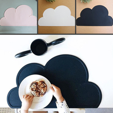 47.5*27cm Waterproof Silicone Placemat Bar Mat Baby Kids Cloud Shaped Plate Mat Table Mat Set Home Kitchen Pads(China (Mainland))