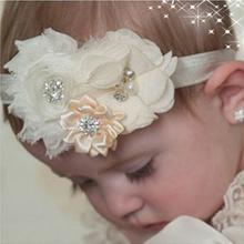 Baby Headband Hair Bowknot lace Headbands Infant Hair Accessories Girls grosgrain ribbon Bow Headband Toddler hair bands w–037