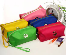2015 hot-sale square multi-color portable pu cosmetic bag with handle