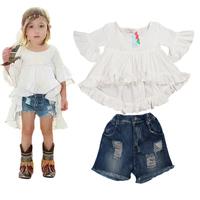 на ребенка одежду девочек t рубашку дети детей топы летние cartton короткий рукав Одежда, t рубашку, Привет Китти