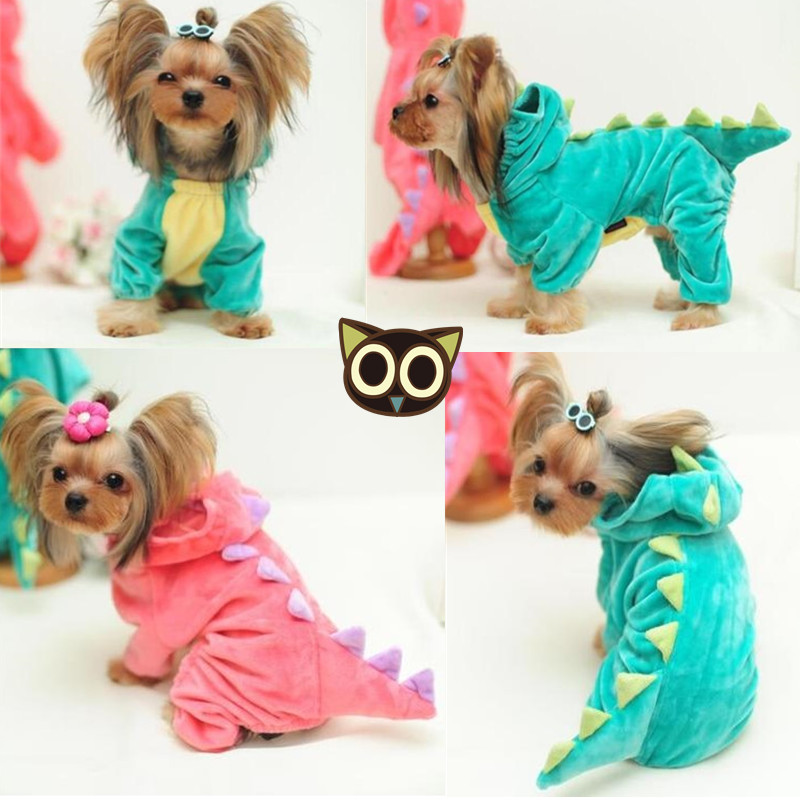Funny Dog Custome Pet Dragon Puppy Coat Dinosaur Clothes Dressing Up Teddy Hoodies Chihuahua Jersey Clothing for Small Dogs 05(China (Mainland))