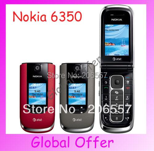 6350 Original Unlocked Nokia 6350 mobile phone Camera Bluetooth JAVA FM MP3 3G GPS Cheap Cell Phone refurbished 1 year warranty(China (Mainland))
