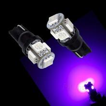 US Warehouse 10Pcs T10 921 194 5SMD 5050 LED Light Bulb Auto High Bright PURPLE current fixed(Taiwan)
