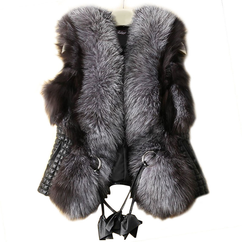 New Fund Sell Like Hot Cakes The European And American Autumn/winter Vest Imitation Silver Fox fur Vest Coat Short Female Fur(China (Mainland))