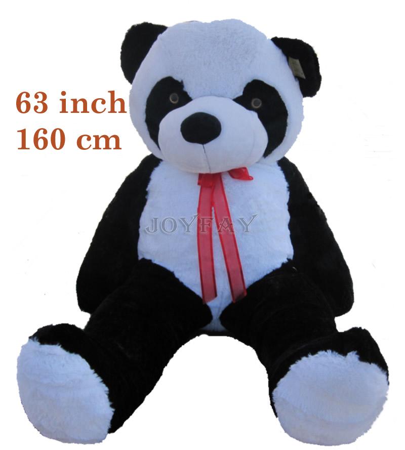 Joyfay Giant Huge Big 160 cm Panda Bear Stuffed Plush Animal Toy 63'' 63 inch Panda Bear Best Gift for Birthday Valentine's(China (Mainland))