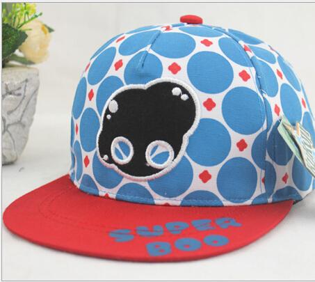 Child High quality snapback Popular kids Good baseball cap gorras casquette 2015 new arrival dot cartoon children fitted hats(China (Mainland))