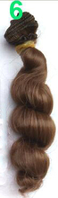 1pcs 15cm x 100cm brown flaxen coffee black brown natural color high temperature curly doll wig hair for 1/3 1/4 1/6 BJD diy(China (Mainland))