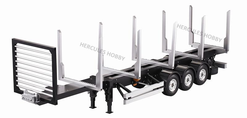 [HERCULES HOBBY] TAMIYA Tractor Truck 1/14 Scale 3 Axle Stanchion Semi-Trailer Made China - HERCULES HOBBY store