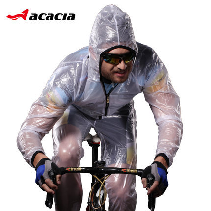 2015 Outdoor Sports Riding Mountain Bicycle Bike Cycling Raincoat Poncho Jacket Slim Split Windshield Waterproof Raincoat Suit(China (Mainland))