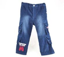 1-6yrs Boys Pants For Autumn And Winter Thick Childrens Trousers Blue Cartoon Style High Quality 721(China (Mainland))