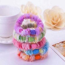5 Pcs Acessórios Para o Cabelo elástico gaze Embrulho Headhands elastic band elastico de cabelo Enfeites