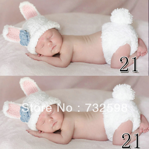 Newborn Baby Infant Crochet Knit Beanie Animal Design Photography Props Hat(China (Mainland))