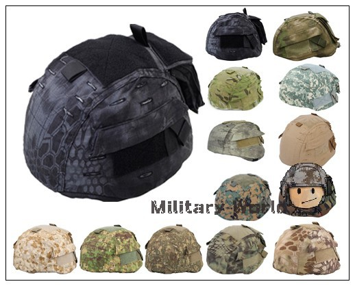 Airsoft Combat Tactical Military Army Hunting Helmet Cover for MICH 2002 Ver2 With Pockets High Quality Nylon Men Typhon Camo(China (Mainland))