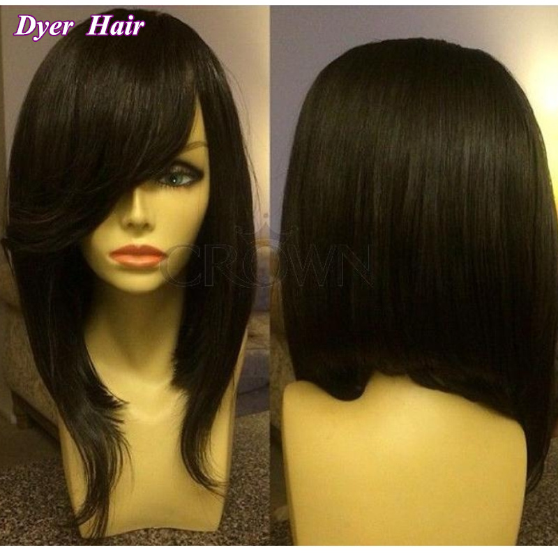 Side Part Weave Bob With Bangs | this is one of the
