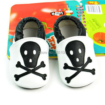 RETAIL Unisex Genuine Leather Skeleton Suede soft sole Baby Shoes baby first walker Leather shoe Infant toddler shoes
