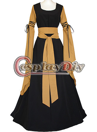 Free Shipping Custom-made Medieval Renaissance Victorian Costume Dress Black And Brown DressОдежда и ак�е��уары<br><br><br>Aliexpress