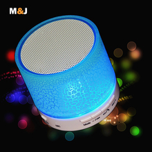 2016 New LED MINI Bluetooth Speaker A9 TF USB Wireless Portable Music Sound Box Subwoofer Loudspeakers For phone PC with Mic