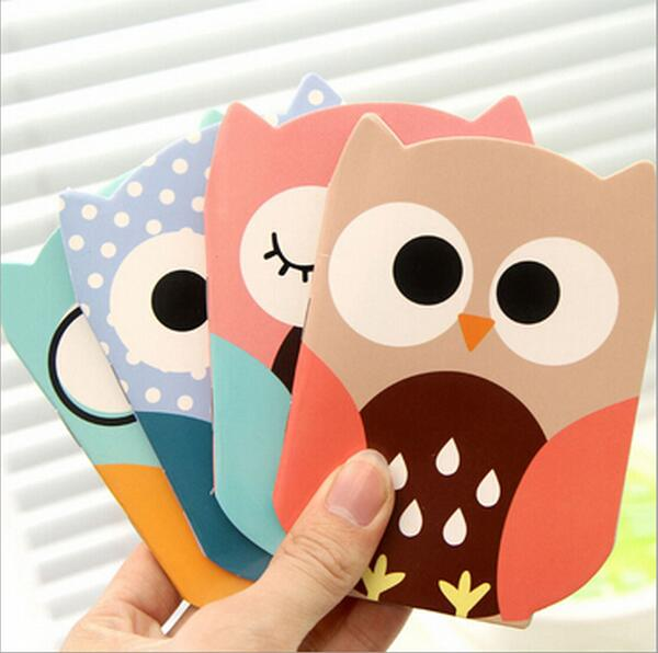 24pcs/lot New Cute Owl design Kraft paper Mini tally book/pocket notebook/blank Inner Pages/School office supplies WJ0257(China (Mainland))