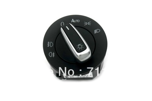 Car Styling Chrome Head Light Switch With Coming Home Automatic For Volkswagen For VW New Scirocco Golf Jetta MK5 Golf MK6(China (Mainland))