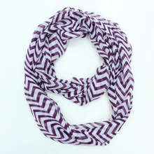 19 Colors American and Europe hottest women fashion double colors stripes wave soft silk scarf(China (Mainland))