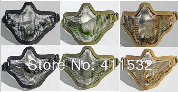Paintball mask Half Face Metal Mesh Protective Mask Airsoft Resistant MA15754(China (Mainland))