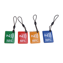 A16 4pcs Lot Universal Smart NFC Tags Ntag203 Stickers For Android Phone With NFC T1051 P