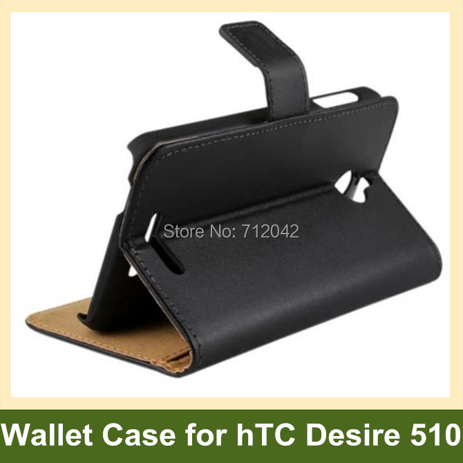 For HTC Desire 510 Genuine Leather Flip Cover Phone Case for HTC Desire 510 with Folding Function 10pcs/lot Free Shipping