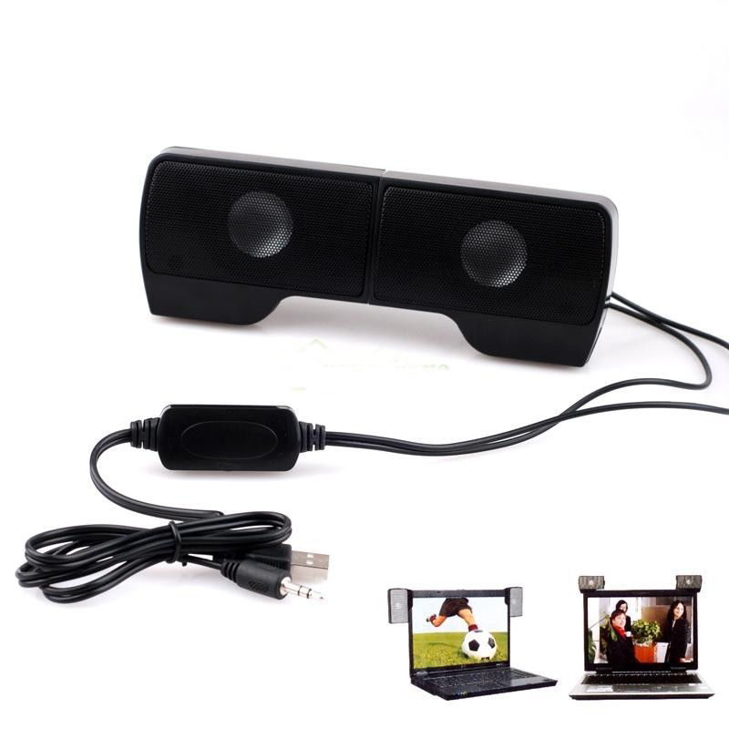 1 Pair High Quality Mini Portable Clipon Line Driver USB Stereo Speaker Sound Bar for Notebook PC Laptop Computer with Clip(China (Mainland))