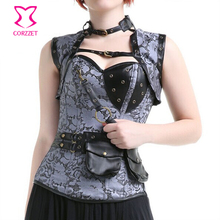 New Gothic Vintage Waist Training Overbust Steel Boned Corsets And Bustiers Women Sexy Steampunk Corset Corselet Tops Espartilho