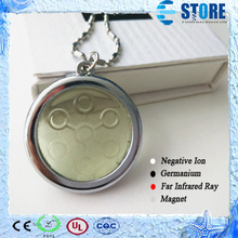 High Ions 5000CC Energy Pendant Bio Disc Pendant Quantum Scalar Charms with Stainless Steel Chain Light Green,2pcs/lot Free(China (Mainland))