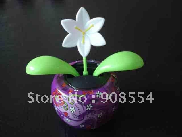 solar dancing flower 10pcs per lot Free shipping via China post air Mail(China (Mainland))