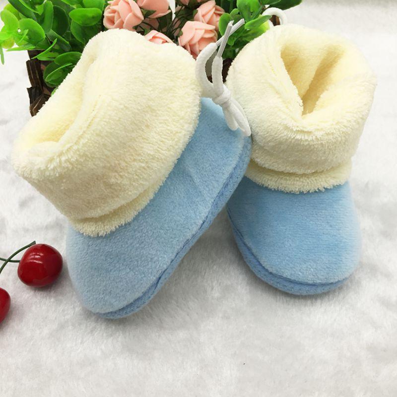 New Winter Newborn Baby Flock Warm Pre-walker Shoes Infant Boy Girl Toddler Soft Soled First Walker(China (Mainland))