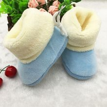 New Winter Newborn Baby Flock Warm Pre-walker Shoes Infant Boy Girl Toddler Soft Soled First Walker(China (Mainland))