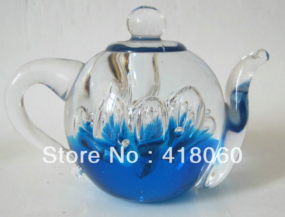 Hand made glass collectible art and crafts home decoration for Art and craft pot decoration