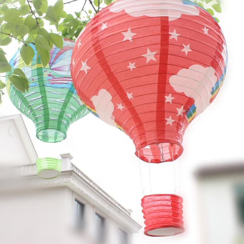 7Pcs 30cm multicolor Paper Chinese wishing lantern hot air balloon Fire Sky lantern for Birthday Wedding Party color #03(China (Mainland))