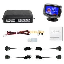 New Style Car LCD Monitor Display 4 Sensor Rear Parking Reverse Backup Radar #FD-2800(China (Mainland))